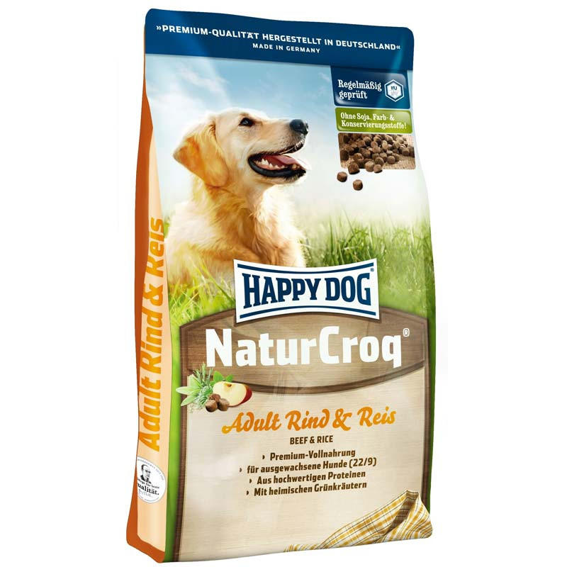 Корм Happy Dog NaturCroq Говядина с Рисом для Собак