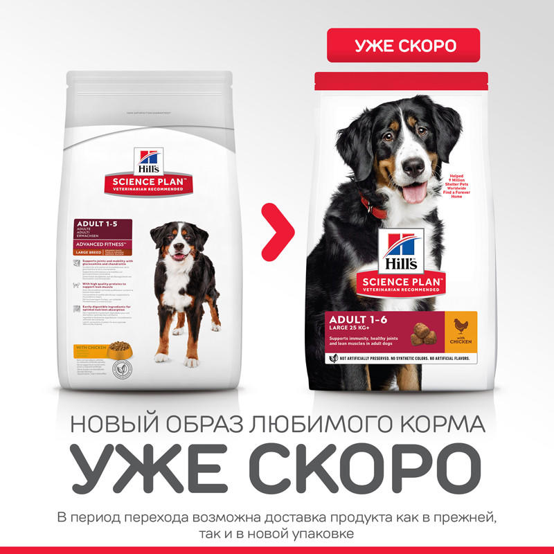 Корм Hill's SP Adult Advanced Fitness Large Breed with Chicken для Собак Крупных Пород с Курицей