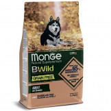 Корм Monge Dog BWild Grain Free Беззерновой Лосось с Горохом для Собак