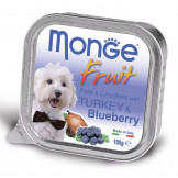 Консервы Monge Dog Fruit для Собак Индейка с Черникой