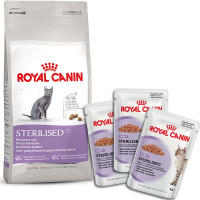 Корм Royal Canin для Кошек Sterilised + Консервы Sterilised АКЦИЯ