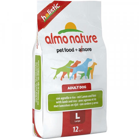 Корм Almo Nature Holistic для Собак Крупных Пород с Ягненком