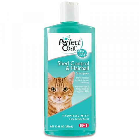 8in1 Perfect Coat Shed Control&Hairball Шампунь Укрепление Шерсти