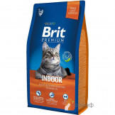 Корм Brit Premium Cat Indoor для Домашних Кошек Курица с Соусом из Печени
