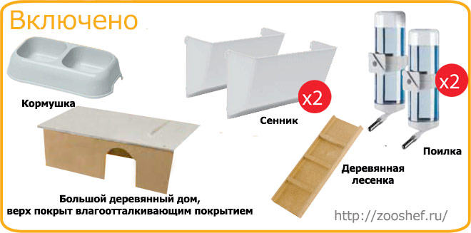 Комплектация Ferplas Rabbit 160 Nera Gabbia